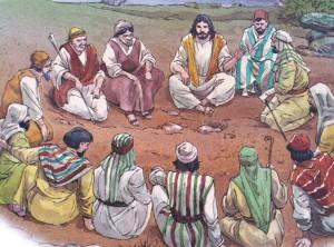 Jesus og disiplene i ring