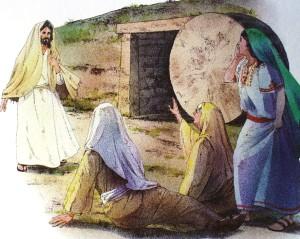 Oppstandne Jesus + kvinnene
