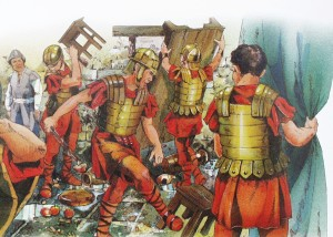Romerske soldater herjer