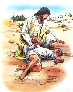 Besatte gutten og Jesus
