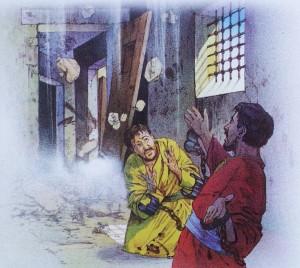Paulus og Silas i fengsel2