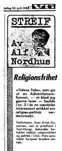 Anbefaling Alf Nordhus
